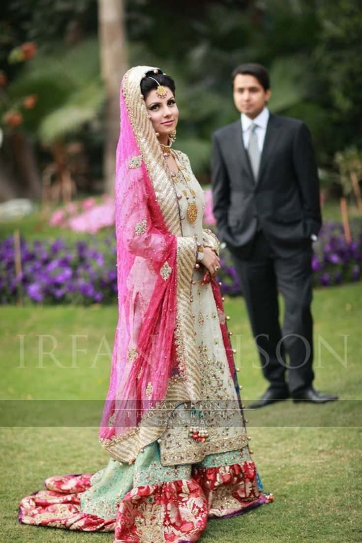 Pakistani Bridal Shararas - Pink Inspiration {Irfan Ahson Photography} - TheBigFatIndianWedding.com