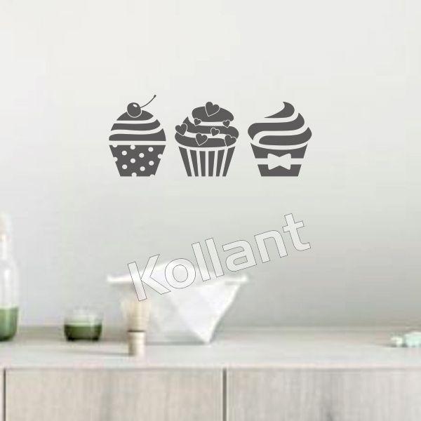 Adesivo Cozinha Cupcakes - Kollant Adesivos