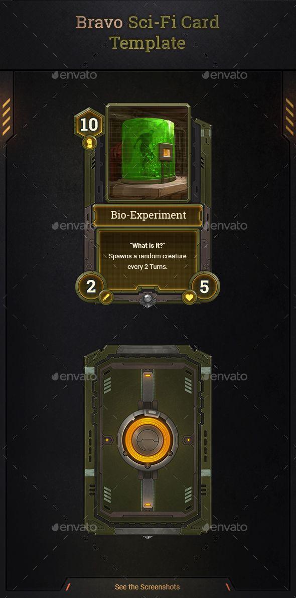 Bravo Sci Fi Card Template Card Template Cards Sci Fi