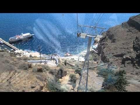 Santorini Cable Car Ride FULL POV - 2013