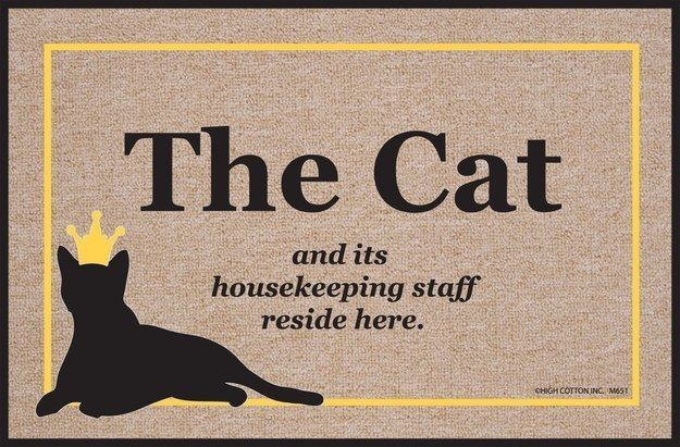 This welcome mat lays out the truth before people enter your home.