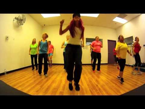 Zumba videos on YouTube. This girl's routines are so much fun. I WANT to do these every night!