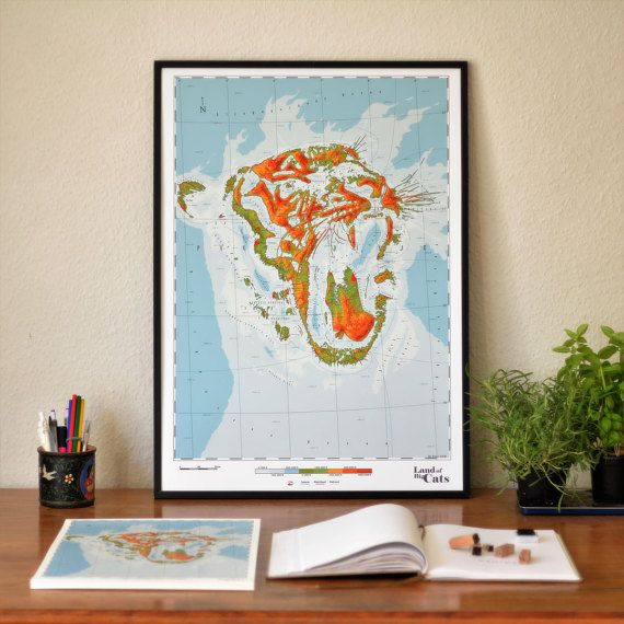 Pantherinae  Land of the Big Cats by DauDaw on Etsy