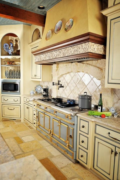 Great colors country french inspired country french for French country kitchen colors
