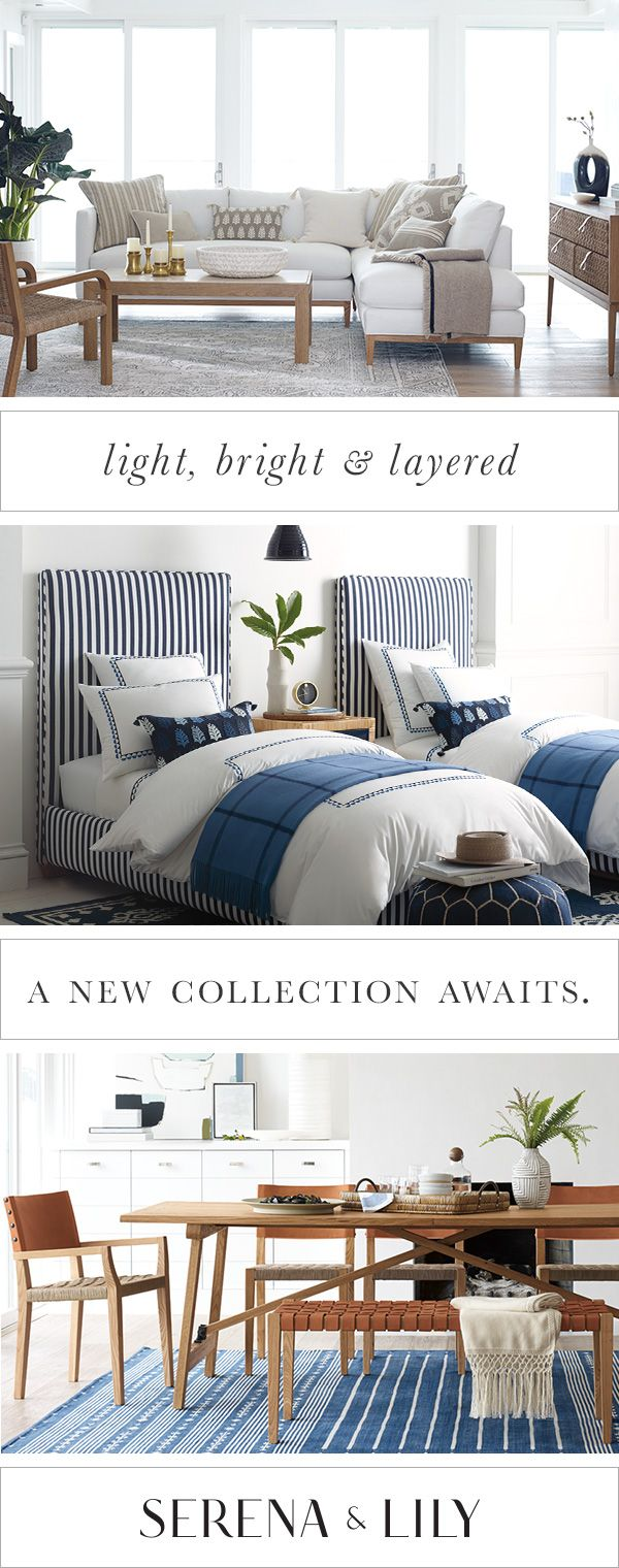 Make yourself at home with Serena & Lily's new fall collection designed with casual living in mind.