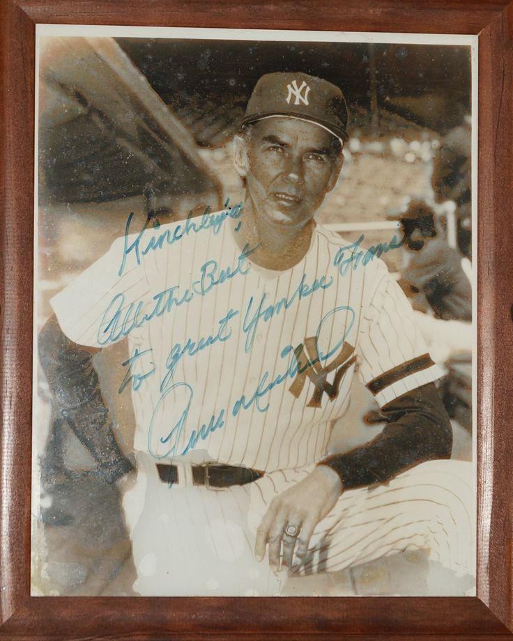 Gene Michael -  Yankees player, manager, general manager and scout, Mr. Michael is most well known for being one of the architects of the Yankee farm system that brought in such well known players as Mariano Rivera, Andy Pettitte, Jorge Posada, and Derek Jeter!