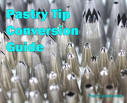 Pastry Tip Conversion Chart | Cake Decorating - Piping ...