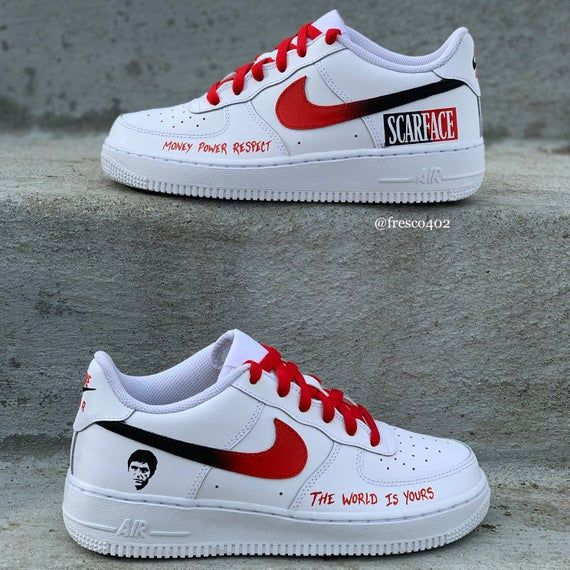Custom Scarface AF'1s | Nike schuhe, Schuhe, Laufschuhe