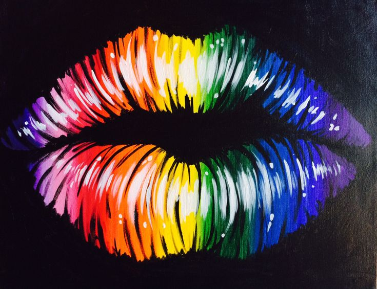 Best Kiss Painting Ideas On Pinterest Kiss Art Simple - Putting paint on a drum kit creates an explosive rainbow