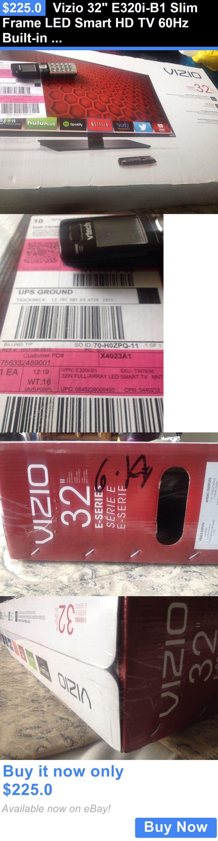 Smart TV: Vizio 32 E320i-B1 Slim Frame Led Smart Hd Tv 60Hz Built-In Wifi Brand New!! BUY IT NOW ONLY: $225.0