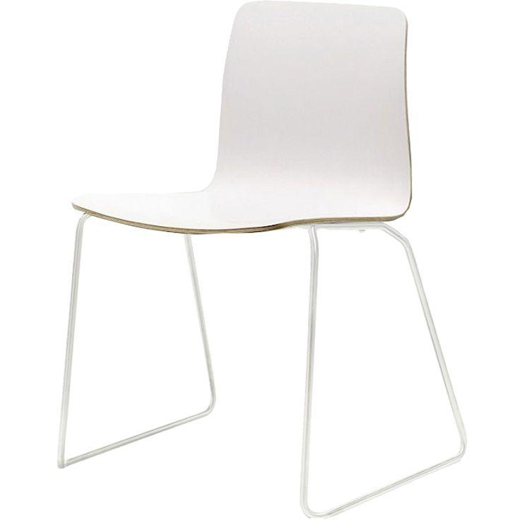 JW01 stol, vit/vit i gruppen Möbler / Stolar & Pallar / Stolar hos RUM21.se (123612)