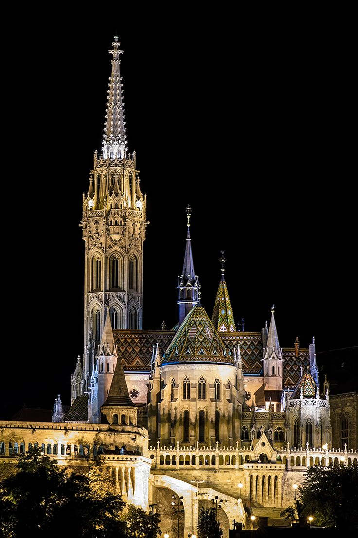 Mátyás-templom Over Looking the River Danube in Budapest by Brian Jones Photography