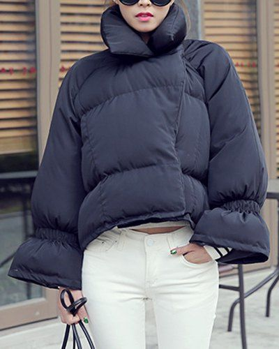 Quilted cocoon coat
