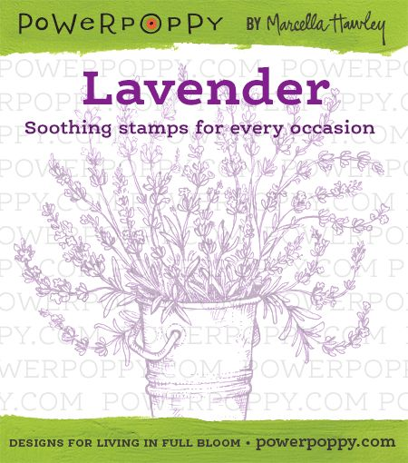 Lavender Stamp Set from Power Poppy by Marcella Hawley