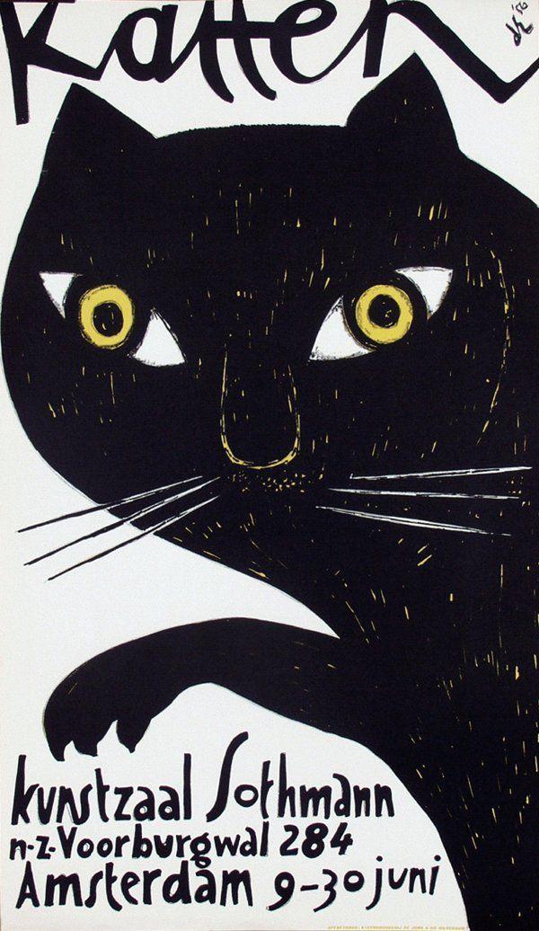 Poster by Dick Elffers - Katten