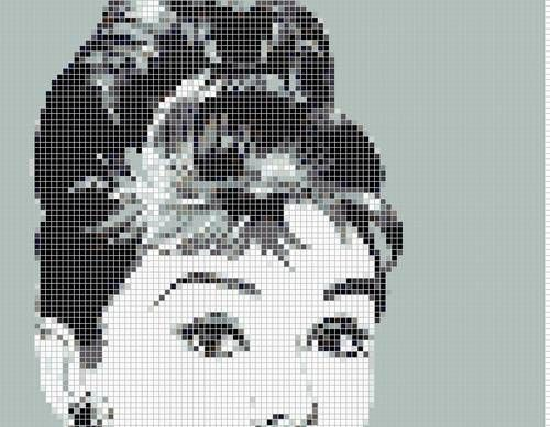Breakfast at Tiffanys Audrey Hepburn stitchalong...x stitch pattern - NEEDLEWORK