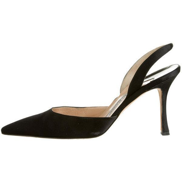 Pre-owned Manolo Blahnik Pumps (2.337.825 IDR) ❤ liked on Polyvore featuring shoes, pumps, heels, black, stiletto heel pumps, manolo blahnik pumps, heel pump, black shoes and slingback pumps #manoloblahnikslingback #manoloblahnikheelsstilettos