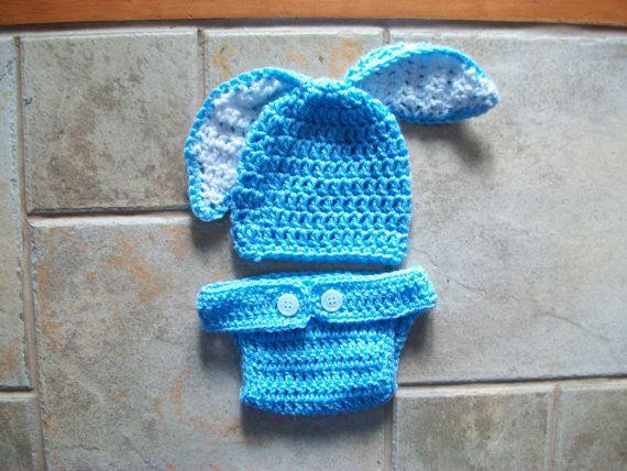Baby Bunny Hat Crochet Bunny Hat Easter by SarahCrochetCreation