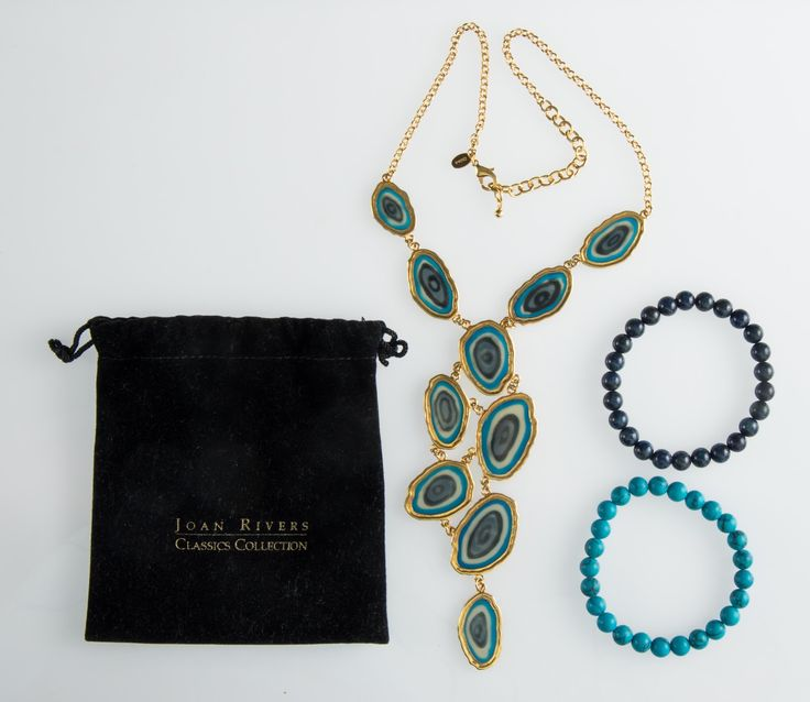 Joan Rivers Necklace & Matching Bracelets.  Costume jewelry of exceptional quality.  Auction find, $7.50 Cdn.