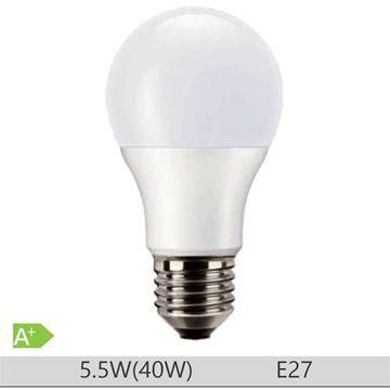 Bec LED PILA 5.5W E27 forma clasica A60, lumina neutra  http://www.etbm.ro/becuri-led