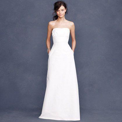 104 best strapless wedding dresses images on pinterest for J crew short wedding dresses