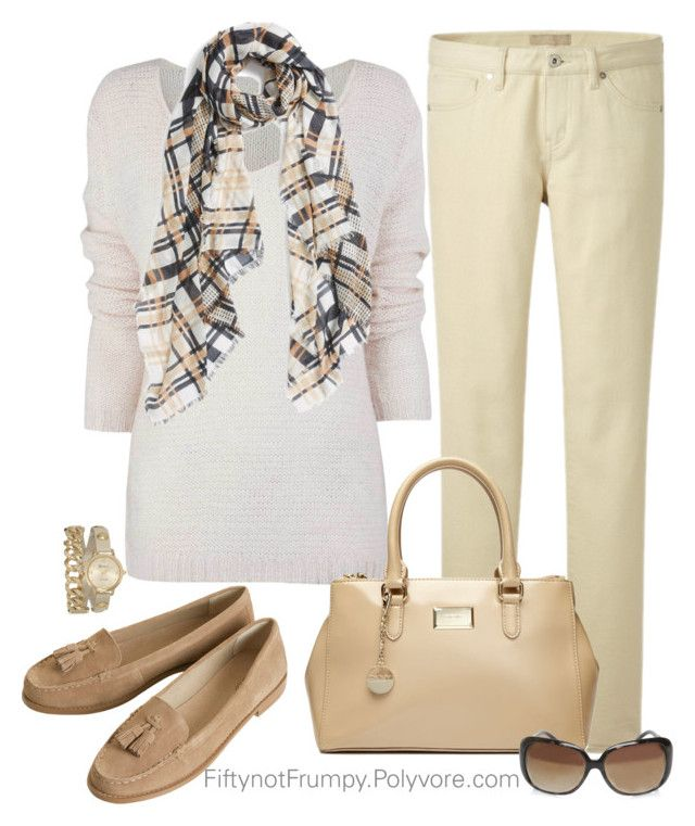 """Tone Poem"" by fiftynotfrumpy ❤ liked on Polyvore featuring Uniqlo, DKNY, Halogen, Nine West and Topshop"