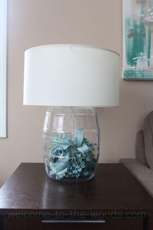 Diy Glass Table Lamp Tutorial Diy Table Lamp Glass Table Lamp Diy Glass