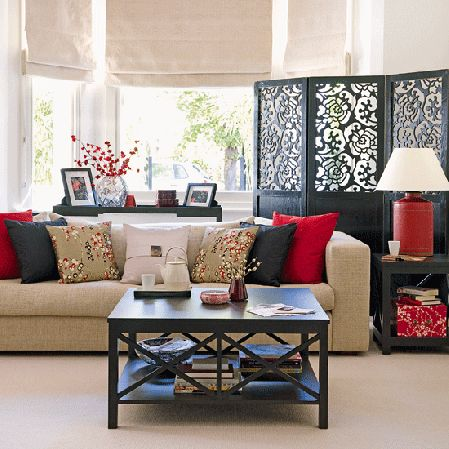 serene, calm, Zen Asian-inspired living room // Decoholic