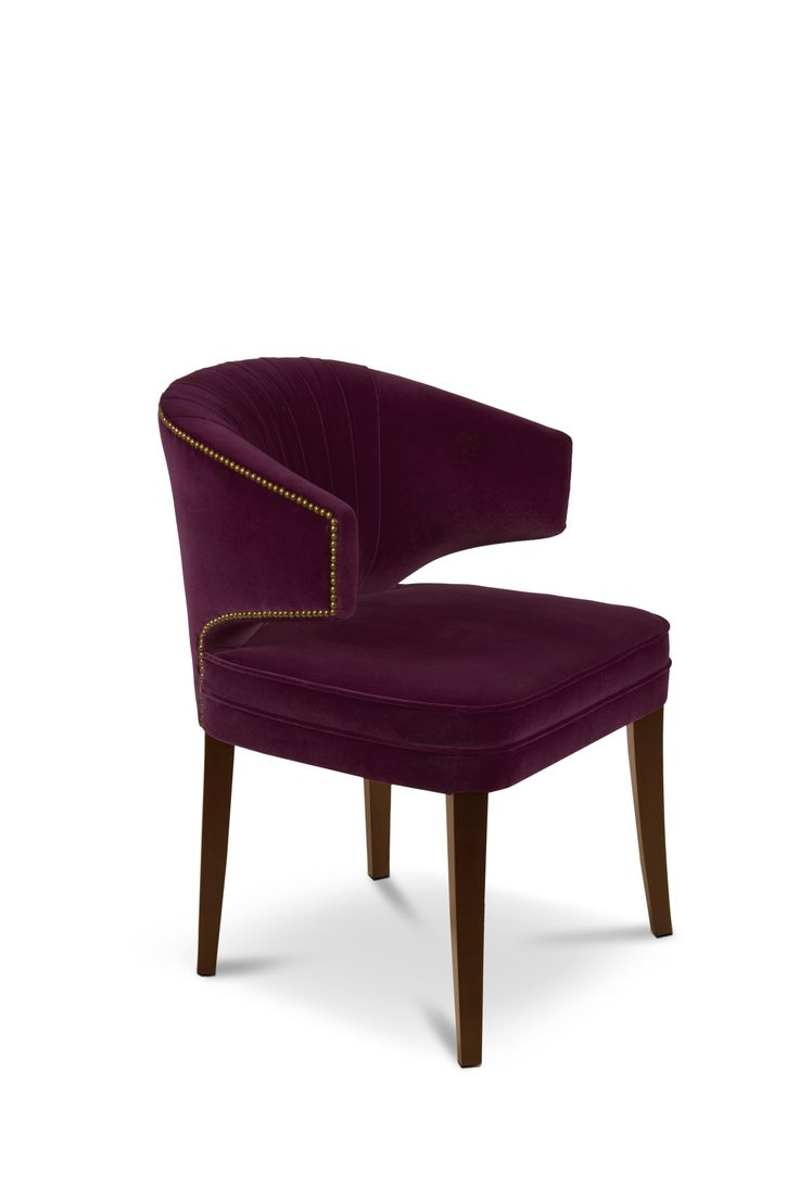 IBIS Dining Chair   Modern Chairs   Velvet Chair   Chair Design   #modernchairs   #diningroomchairs   #armchairs   Find more at: http://brabbu.com/category/upholstery