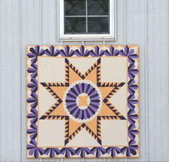 Another beautiful work of art on a Marion County Quilt Trail Barn