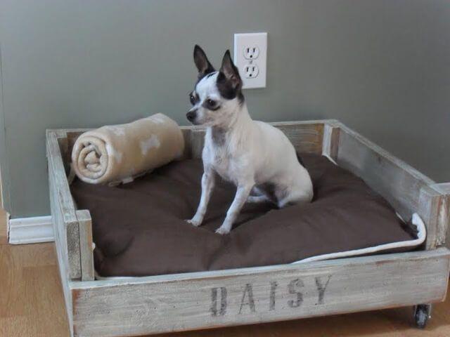 Diese Hundebetten sind so süß - dein Hündchen würde eins sicher lieben!  - Hundebett aus einer Kiste