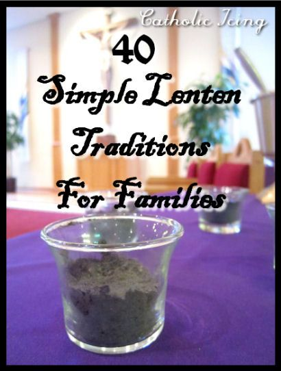 Looking for some simple ways to celebrate Lent with your family this year? This is a great list. 40 ways for 40 days!