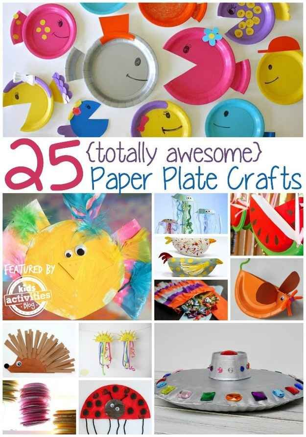 25 Paper Plate Crafts Kids Can Make
