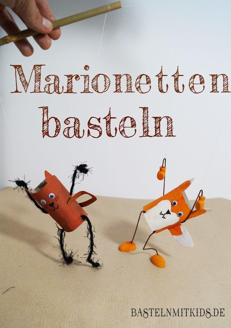 Marionetten basteln mit Kindern - Basteln mit Kindern