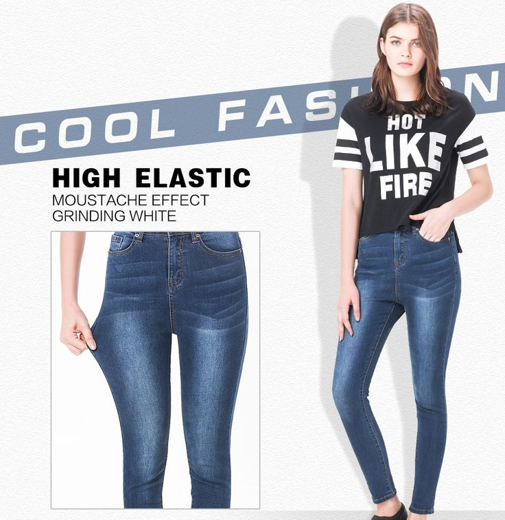 Jeans for women Jeans With High Waist Jeans Woman High Elastic plus size Women Jeans femme washed casual skinny pencil pants-in Jeans from Women's Clothing & Accessories on Aliexpress.com | Alibaba Group