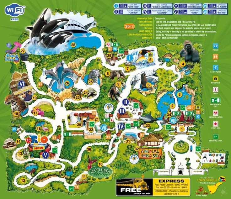 Mapa Interactivo Loro Parque - Teneriffa