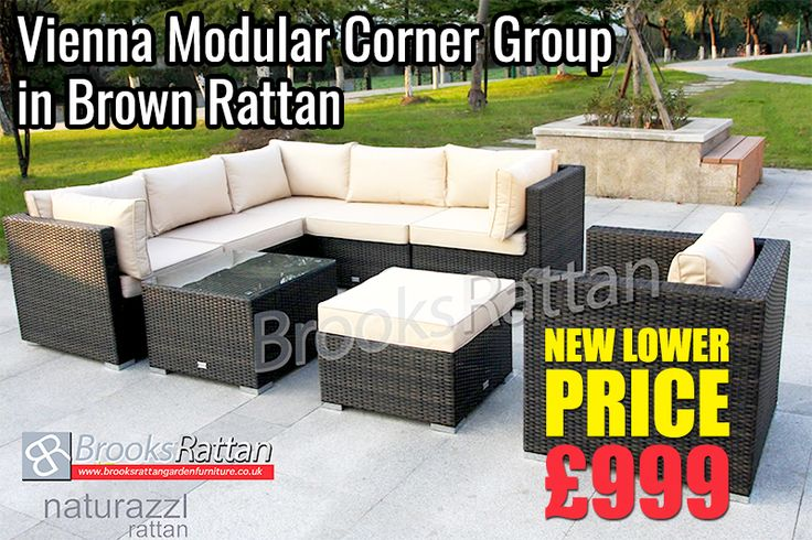 """Monday""""s Hottest Deal !! Big Discount !! Hurry UP Vienna Modular Corner Group + 10 Years Guarantee + Free Delivery  Buy Now: http://www.brooksrattangardenfurniture.co.uk/corner-sofa-groups/vienna-modular-corner-group-sofa-armchair-set-brown-weave-rattan.html   #Furniture #Sale #Outdoorfurniture #Gardenfurniture #Rattangardenfurniture #Homeimprovment #Homedecor #Essex #UK"""