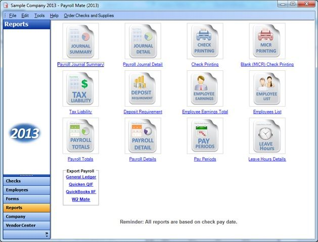 Payroll Processing Reports