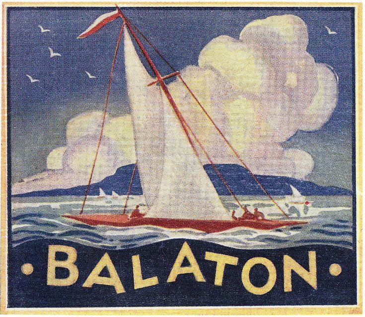 Ungheria - Balaton   vintage travel poster