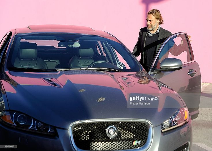 Actor Christoph Waltz sighted with his Jaguar on December 16, 2011 in Los Angeles, California.