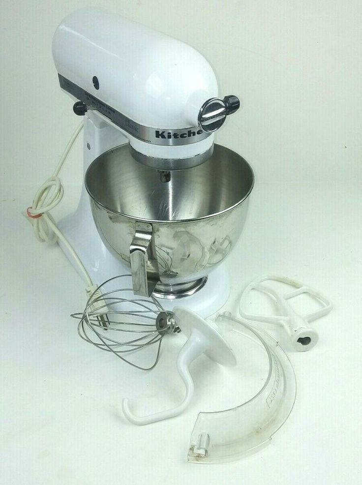 Kitchenaid classic k45ss stand mixer white with