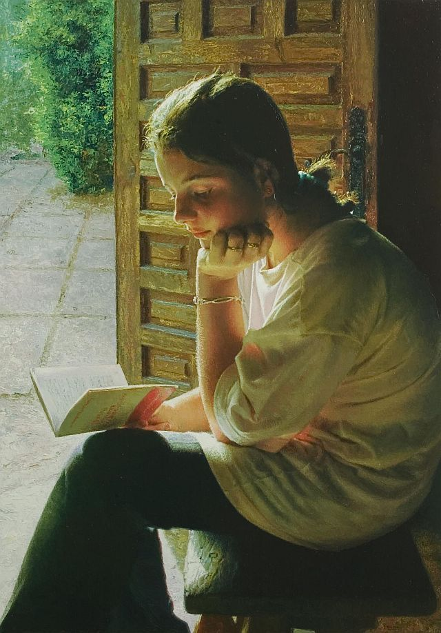 33 Best Cuadros Images On Pinterest Etchings Girl Reading Book