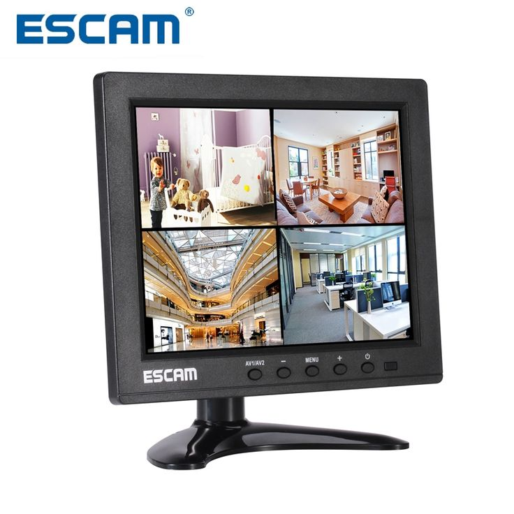 Escam 8-inch TFT HD LCD Monitor with VGA HDMI AV BNC USB for Security Camera CCTV Monitor PC Monitor PAL/NTSC System Audio Input