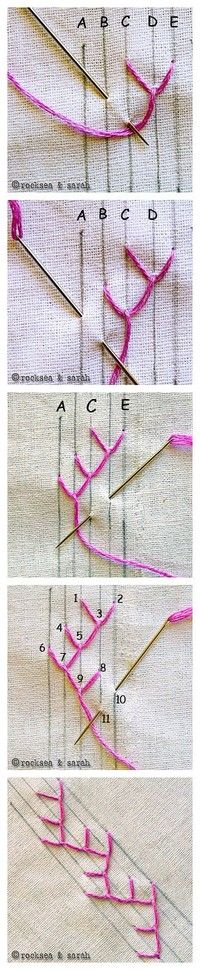 Good step-by-step pictures of embroidery stitches