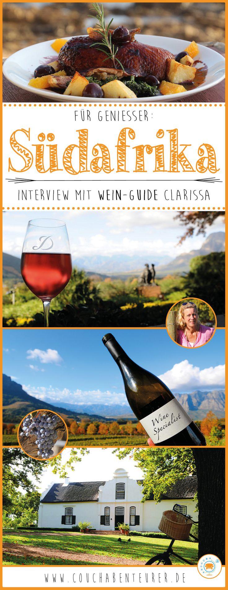 Clarissa Hagemann ist Wein-Expertin und überdies noch ausgebildeter Tour-Guide in Südafrika. Ihre Leidenschaft für das Land am Kap und seine hervorragenden Weine hat sie sich zur Lebensaufgabe gemacht. Ihre Begeisterung teilt sie mit Reisenden aus der ganzen Welt. Ich habe sie interviewt