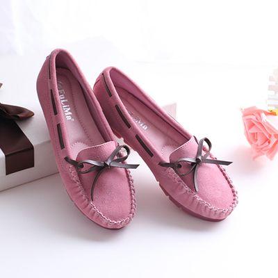 Одиночные ботинки плоские пятки Горох обувь женщины плоские круглые +2017 весной и осенью и зимой лук неглубоко рот дикий случайный корейский - Taobao