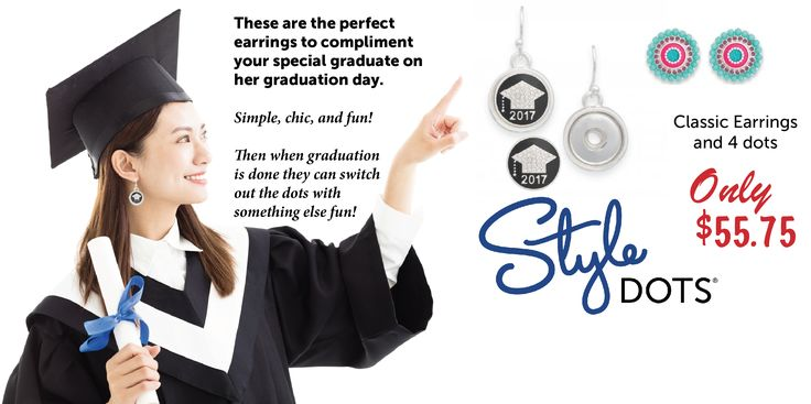 Graduation Dots!! Pair them with a necklace, earrings or bracelet for a fun & beautiful look on Graduation Day!! http://bit.ly/2q2LPz4 #graduation #graduation2017 #grads