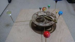 Picture of Orrery- A Mechanical Solar System Model from Plywood