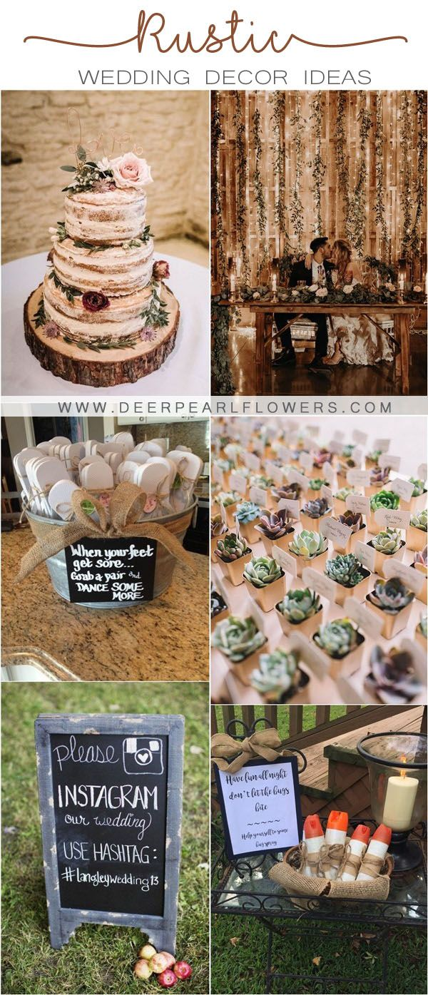 Top 20 Rustic Wedding Ideas For Wedding 2020 My Deer Flowers In 2020 Rustic Wedding Rustic Country Wedding Decorations Country Wedding Decorations