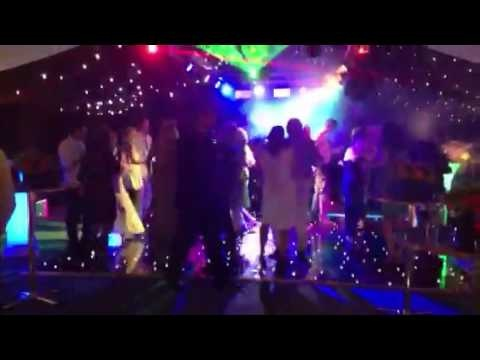 50th birthday party with led lighting and a black starlight dance floor just a bit of wow factor